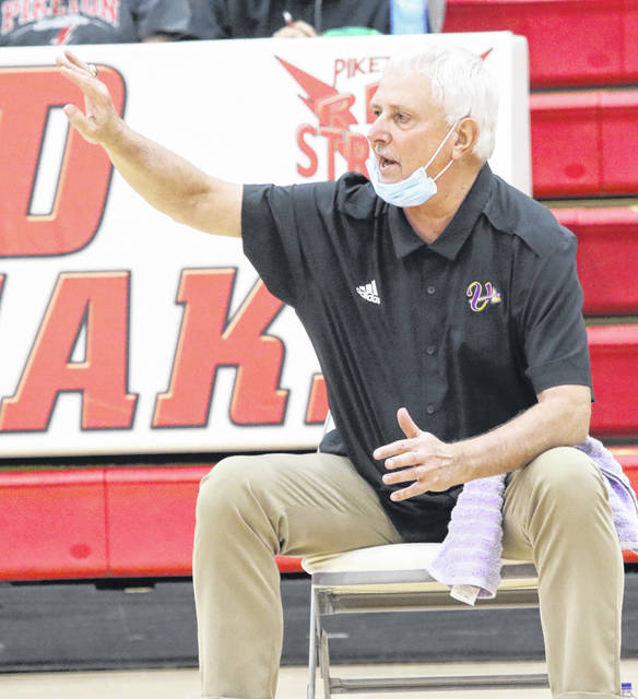 Norm Persin, shown here making his head coaching debut with the Valley Indians last season, has resigned after only one season with the boys basketball program.