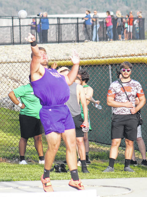 Valley senior Ryan Benjamin qualified for the Division III state track and field meet by finishing second in the boys shot put as part of Friday's Day 2 of 2 of the Region 11 meet at Southeastern High School.