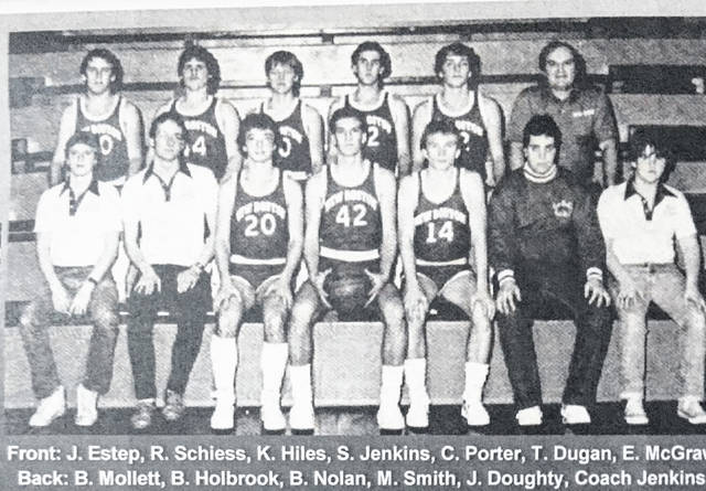 The 1984-85 New Boston boys basketball team was Class A sectional champions and district runner-up.