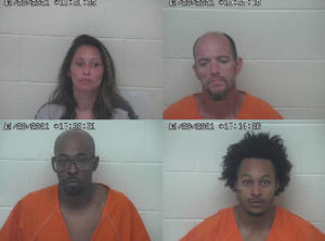 Four arrested on drug and weapon offenses