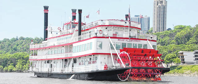 BB Riverboats' Belle of Cincinnati is a boat that offers lunch, dinner, and sightseeing cruises to nearby river cities during the late summer months.