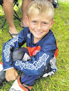 Five-year-old competing in National Amateur Motocross Racing Championship