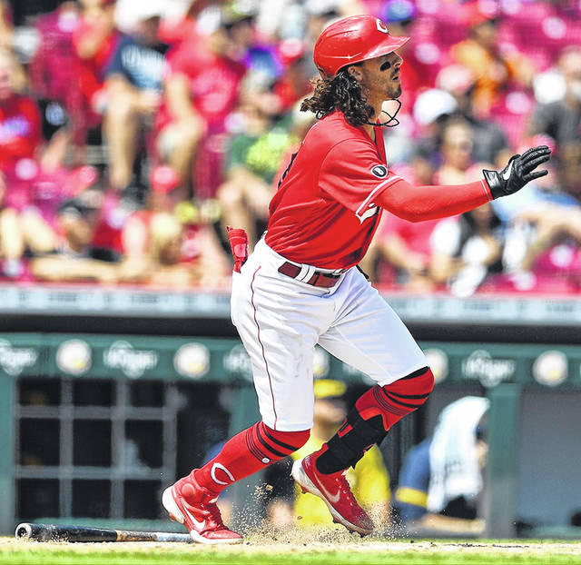 Cincinnati Reds' Jonathan India had the Reds' only walk and one of five hits during their 8-0 loss against the Milwaukee Brewers on Sunday.