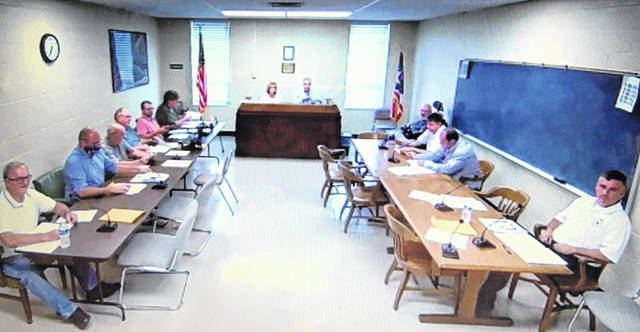 The first meeting in July of the New Boston Village Council.
