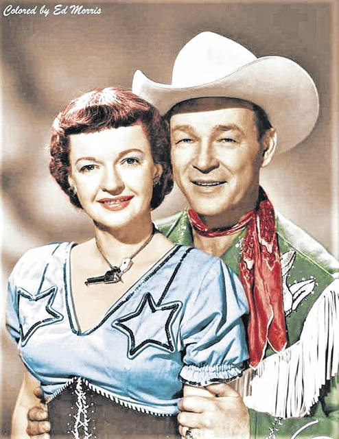 Photo of husband and wife Dale and Roy Rogers.