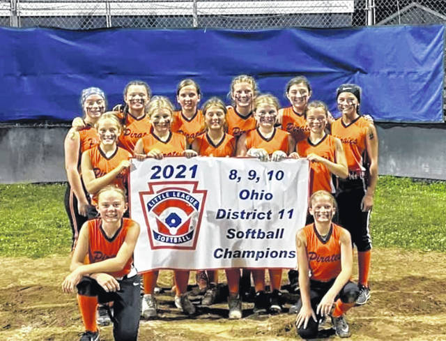 The Wheelersburg Little League 8/9/10 girls softball team won the District 11 championship last week and advanced to the state tournament in Ashtabula, Ohio.
