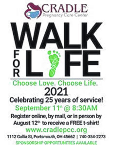 CRADLE to hold Walk for Life September 11th