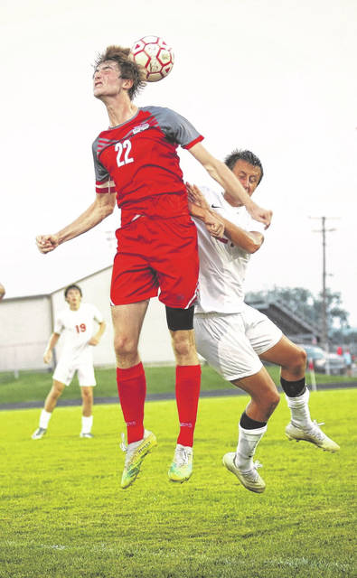 Minford senior Zane Miller scored two first-half goals as part of the Falcons' 5-2 non-league boys soccer victory over visiting Jackson on Tuesday night.