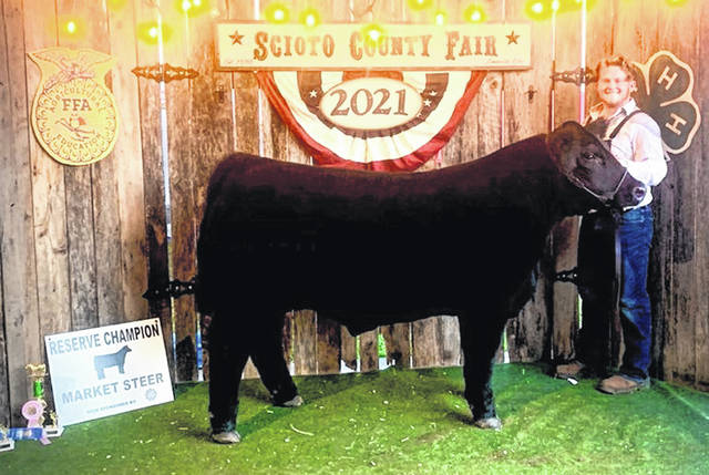 Reserve Champion Steer was won by Chase Conley in his last year of showing at the fair.