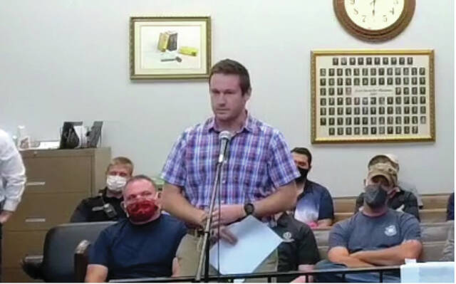 Nathan Prosch, Portsmouth City Engineer, spoke at the council meeting on September 27, proposing a 1 million or 1.5 million tax levy just for street resurfacing. During the meeting, Prosch asked for input from the council on their thoughts on the levy and asked for the public's comments.