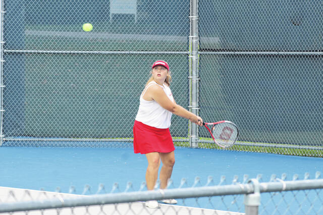 Minford's Addy Akers earned the No. 4 qualifying spot as a singles player for next week's Division II Southeast District tennis tournament.