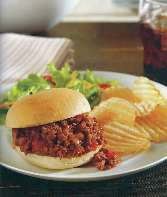 """""""Suzie's Sloppy Joes"""" is a reinvented take on the traditional Sloppy Joe, and can feed the soccer team after practice or a busy family that has been on the go all day."""