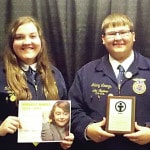 Four receive honors at State FFA Convention