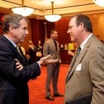 Sherrod Brown meets with North Central State University administrator