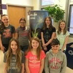 Mount Gilead Middle School students paint rainwater barrel in celebration of Earth Day