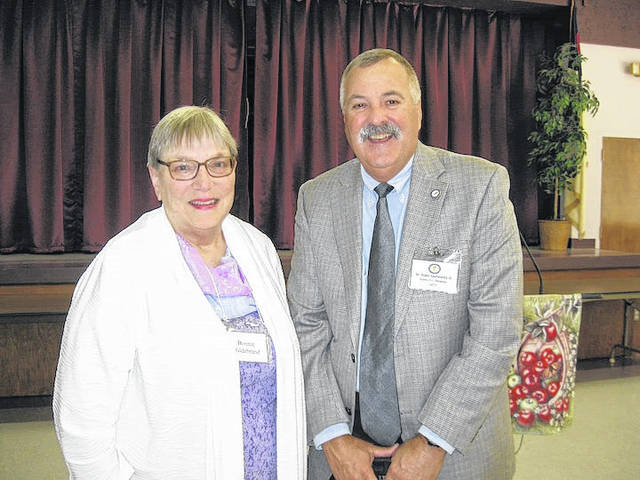 Dr. Robin Rayfield, recently elected ORTA executive director, and Bonnie Hildebrand, president of the Morrow County Retired Teachers Association.