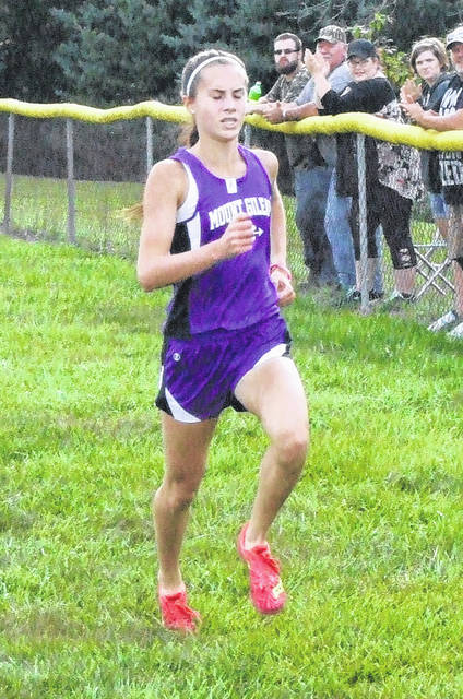 Baylee Hack took first for the Mount Gilead girls at her team's home invitational on Saturday.