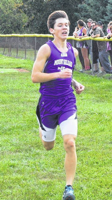 Liam Dennis led MG's boys' team to a win at Saturday's KMAC meet.