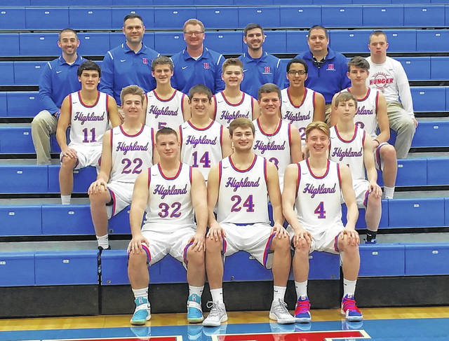 Highland's boys' basketball team for the upcoming season is pictured.
