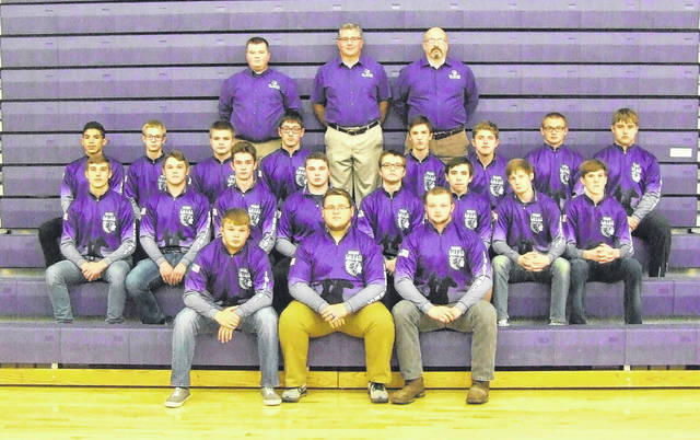 The 2017-18 Mount Gilead wrestling team is in the above picture.