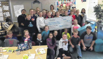 The Park Avenue Elementary K-Kids made two identical donations this month.