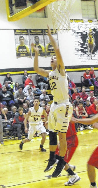 Northmor's Blake Miller was one of four Knights to reach double figures in scoring when he team topped Fredericktown Friday.