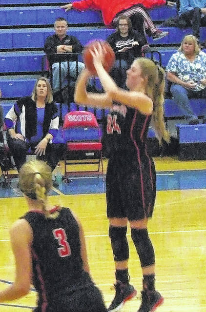 Cardington's Kyndall Spires led her team with 19 points in Saturday's win over Highland.