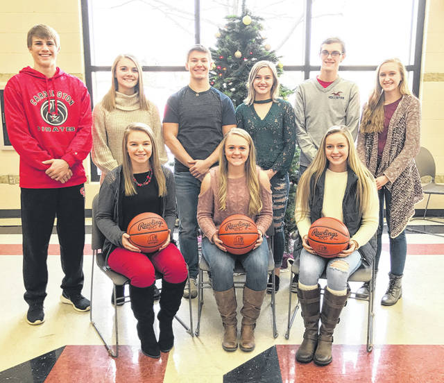 Pictured above is Cardington's Winter Sports Night court. Back row (l-r): Garrett Wagner, Grace Struck, Tyler Villella, Brianna McConnell, Mayson Martin and Elizabeth Long. Front row: Sydney Vaught, Rylie Partlow and Brooklyn Whitt.