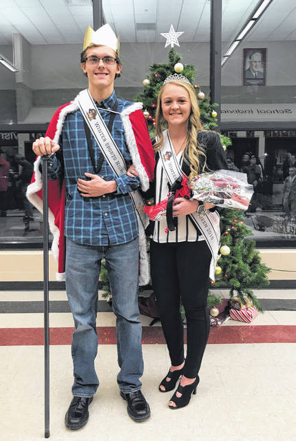 Pictured are the 2018 Cardington-Lincoln High School Winter Sports Night King and Queen, seniors Mayson Martin and Rylie Partlow. The ceremony took place Friday evening between the reserve and varsity games with Fredericktown.