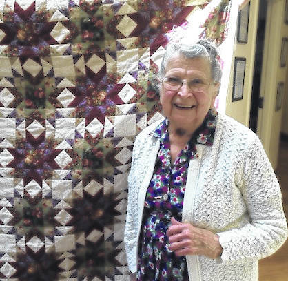 Elsie Wilson with her 2016 quilt.