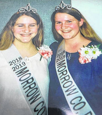 Sisters Lydia and Elizabeth Leonhard were chosen 2018 Morrow County Dairy Princesses.
