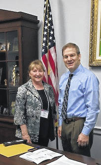 Nikki Morrison met with U.S. Representative Jim Jordan at the annual Legislative Action Conference.