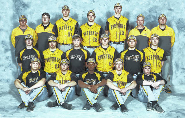 Northmor's varsity baseball team is pictured above.