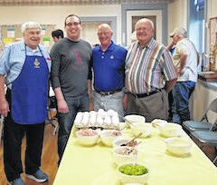 The Masonic Lodge 206 held a breakfast at Presbyterian Church on May 5 to benefit the Special Olympics. From left are Larry Harden, Zack McAvoy, Larry Hildebrand and Tom Geyer helping cook and served the breakfast to more than 100 people.
