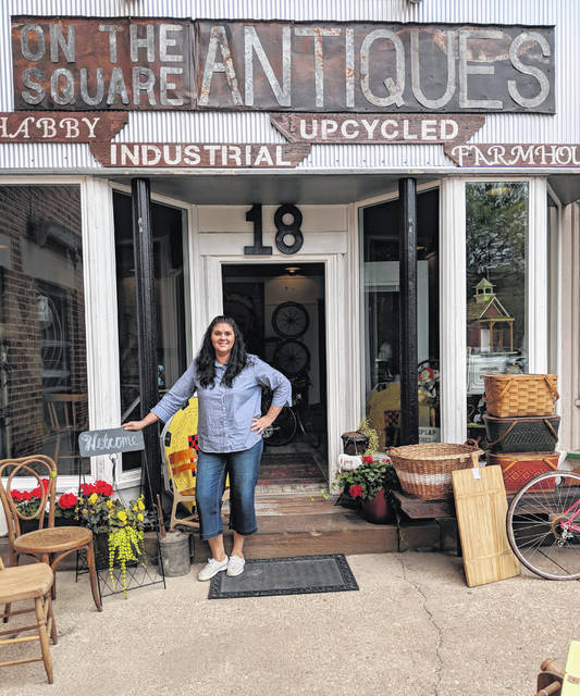 "Owner of ""On the Square Antiques"" is Kerry Wintrich at 18 S. Main Street. The shop is in the northwest corner of the square in Mount Gilead."