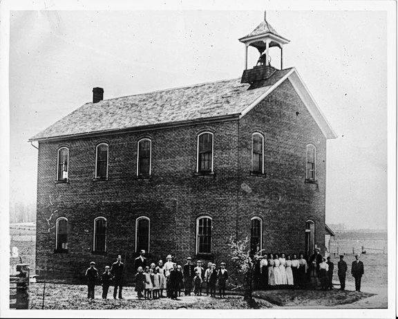 Steam Corners school, circa early 1900s.