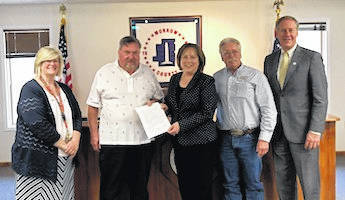Morrow County Commissioners Burgess Castle, Warren Davis and Tom Whiston, joined Kara Edwards, Family and Children Services Supervisor and Sundie Brown, Director of Morrow County Job and Family Services, in proclaiming May as Foster Care Recognition and Recruitment Month. Currently, 15 foster and kinship families provide safety, security and stability to Morrow County's 21 children in need of foster care. If you are interested in becoming a foster family, contact Family & Children Services at 419-947-9111.
