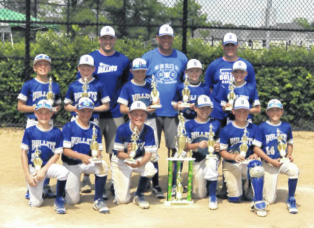 The 2018 10U Mid Ohio Bullets finished their season during the weekend of June 15-17, tallying a 30-3 record. The boys finished 8-0 in the Stephen Gussler Division of COYBL, which was classified as the strongest division out of the 10 division, 50 team league. In addition, they won three tournaments this season (Spring Shootout in Grand Park, Indiana; Upper Arlington NIT and Dublin Wayne Williams Memorial Tournament). Over the last three seasons, the players have finished with an 89-7 record, three COYBL league championships and eight tournaments, two of which were state championships. Pictured are, back row (l-r): coaches Jon Hatfield, Travis Church and Will Taylor. Middle row: Brody Hatfield (Big Walnut), Trevor Brubaker (Northmor), Caden Beck (Delaware Christian), Eli Snyder (River Valley), Cameron Patterson (Big Walnut). Front row: Brady Carr (Northmor), Brady Pavlak (Big Walnut), Luke Chilicki (Olentangy), Jayden Collins (Highland), Zach Church (Highland) and Brady Taylor (Big Walnut).