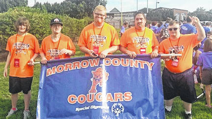 Olivia Sulser, Gregory Stewart, Red Curry, Beau Seaburn and Josh Stuber competed in the state Special Olympics in Columbus.