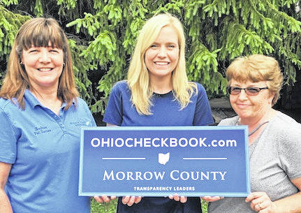 Pictured, from left, are Morrow County Auditor Patricia Davies, Ohio Treasurer's Office Public Affairs Liaison Mary Crall and Morrow County Deputy Auditor Pamela Davis.