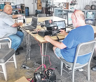 Morrow County ARES participated in the annual ARRL Field Day event on June 23-24. Using make shift antennas and solar/battery power, the ham operators were able to reach 70 contacts from Canada to south Texas, and from Nevada to Maine. The club earned over 600 points in the contest. We were also visited by some members of the community and local Boy Scout Troop 56. Despite rain and some unexpected equipment failure, the event was a success. This what we prepare for and it was actually a good thing that we had some issues as we used our resources and technical ability to get our radios functional in the event of a natural disaster.