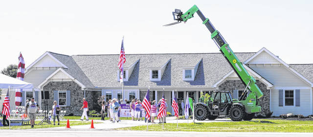 A dedication ceremony was held on July 13 at the home of veteran Nick Vogt of Crestline. Vogt and his wife Lauren were the recipients of a custom built smart home from the Gary Sinise RISE program.