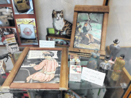 Some of the puzzles and toys that Denise Corney makes and collects.
