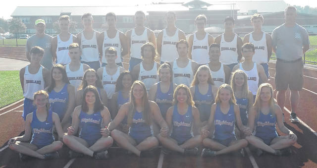 Highland's boys' and girls' cross country teams are in the above picture.