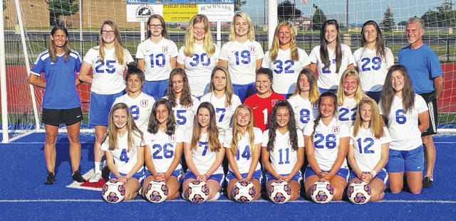 Pictured above is Highland's girls' soccer team.