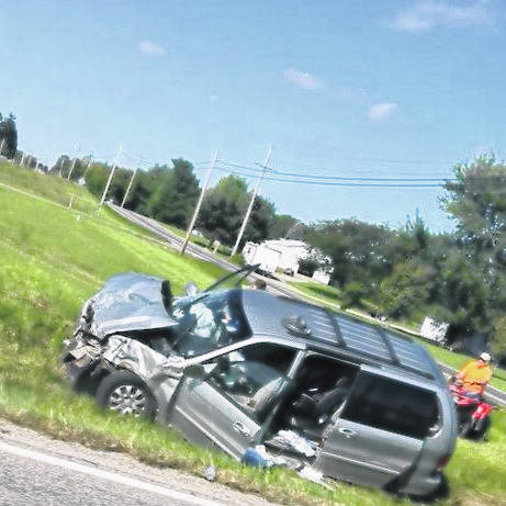 Two vehicles collided at State Route 61 and County Road 115 Saturday morning. Few details available, but injuries to occupants in both the van and other vehicle. A woman was reportedly taken by medical helicopter with injuries; others were treated at the hospital. More information as it becomes available from law enforcement.