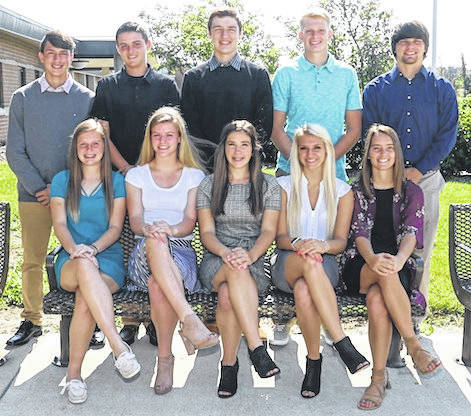 Northmor High School's homecoming court. Front row, from left, Emma Marshall, Natalie Bloom, Mackenzie Zeger, Aly Blunk, Addie Farley. Back row, Niko Christo, Preston Harbolt, Hunter Mariotti, Chris Bood, Ryland Thomas. The game is Friday, Sept. 28 against Cardington.