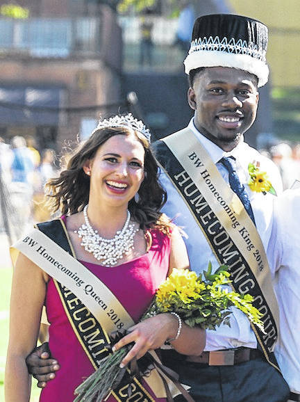 Winkelfoos, a graduate of Highland High School majoring in communication studies, was crowned at halftime along with homecoming king Milton Woods of Chicago