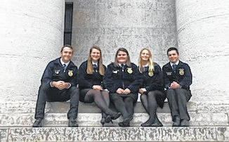 Cardington FFA members at Columbus were, from left: Brydon Ratliff, Tess Ruehrmund, Mikaela Osborne, Aubrey Curtis, and Jacob Levering.
