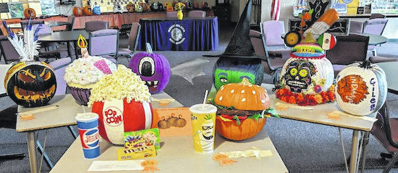 Students and Staff at Mount Gilead High School and Middle School took part in a pumpkin decorating contest last week.